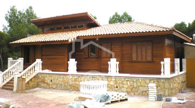 Casas madera noble